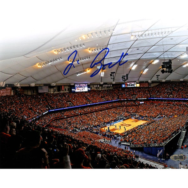 Jim Boeheim signed Carrier Dome Attendance Record 8x10 photo (signed in blue)