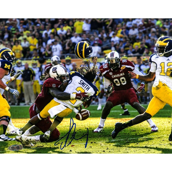 Jadeveon Clowney Hit vs. Michigan Signed 16x20 Photo