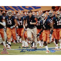 "Doug Marrone Syracuse Running on Field with Team Horizontal 8x10 Photo w/ ""Go Orange"" Insc."