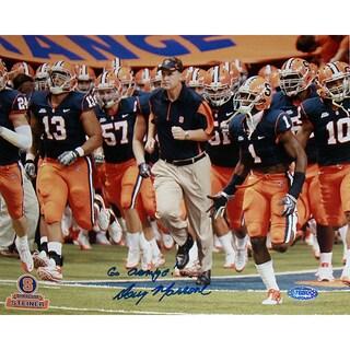 "Doug Marrone Syracuse Running on Field with Team Horizontal 8x10 Photo w/ ""Go Orange"" Insc."