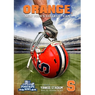 Doug Marrone Cuse University Official 2010 pins. Bowl Poster w/ Go Orange Insc.