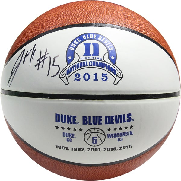 Jalhil Okafor Signed Duke Logo Basketball (SchwartzSports Auth)