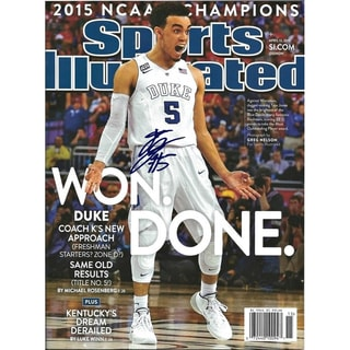 Tyus Jones Signed Sports Illustrated Magazine 16x20 Photo