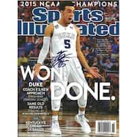 Tyus Jones Signed Sports Illustrated Magazine 16x20 Photo - Black