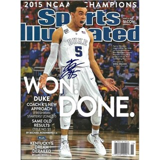 Tyus Jones Signed Sports Illustrated Magazine 16x20 Photo - Black