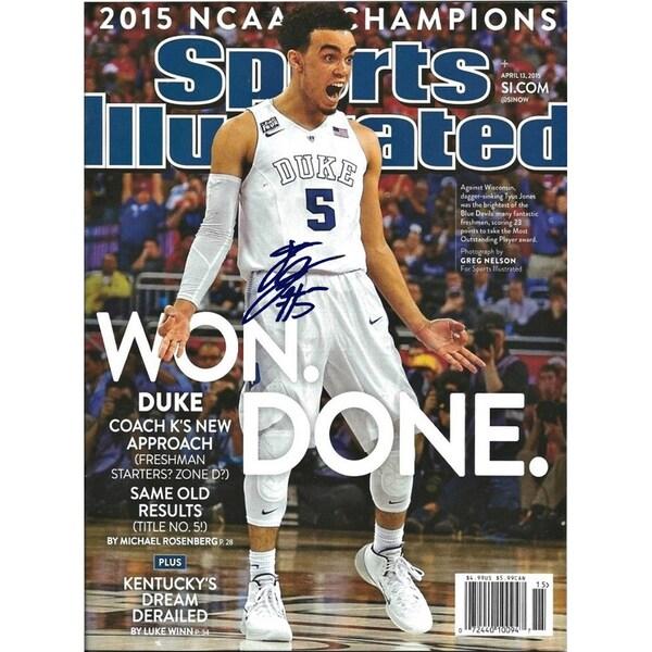 Tyus Jones Signed Sports Illustrated Magazine 16x20 Photo