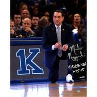 Mike Krzyzewski Signed 1000 Win 11x14 Photo w/ 1000th Win Insc