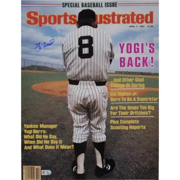 Yogi Berra Signed Sports Illustrated 11x14 Photo