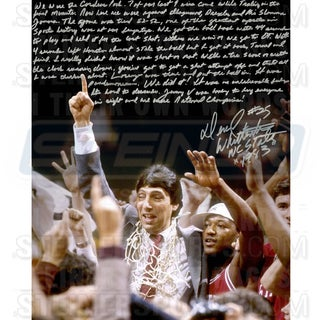 Dereck Whitenburg Signed NCAA Championship Win 16x20 Story Photo