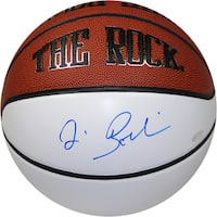 "Jim Boeheim Signed The Rock ""Autograph"" White Panel Basketball"