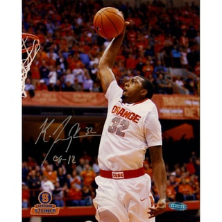 "Kris Joseph Syracuse White Jersey Dunk Vertical 8x10 Photo w/ ""08-12"" Insc."