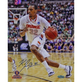 Kris Joseph Syracuse White Jersey Drive Vertical 8x10 Photo