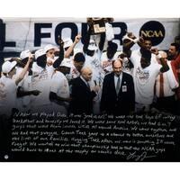 Larry Johnson Signed UNLV 16x20 Story Photo - Black