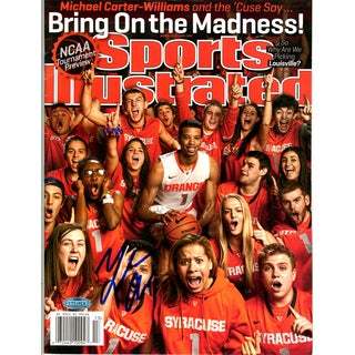 Michael Carter-Williams Signed 3/25/13 Sports Illustrated Magazine No Label