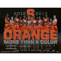 Syracuse University Basketball Team Signed Roster Lineup/Schedule 18x24 Photo (16 Signatures)