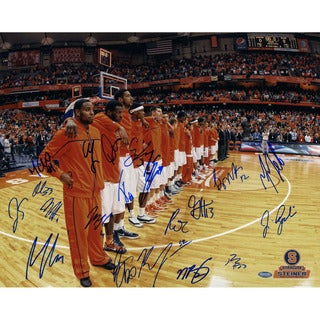 Syracuse Basketball 2011-2012 Season Before Game Team Signed Horizontal 16x20 Photo (Missing James Southerland)