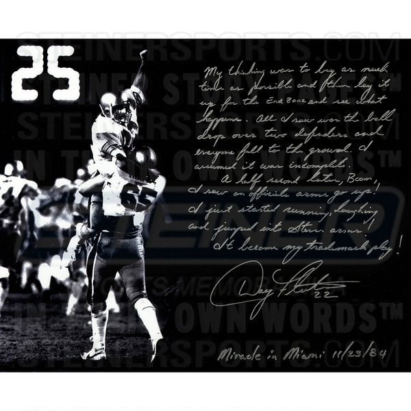 Doug Flutie Signed 16x20 Story Photo