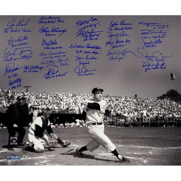Yogi Berra Tribute Multi-Signed and Inscribed 20x24 Metallic Photo (25 Signatures) (LE/50)