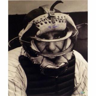 Yogi Berra Close Up Catcher's Mask Vertical 16x20 Photo