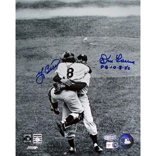 Yogi Berra / Don Larsen Dual Signed 8x10 Photo ( WS.P.G 10.8.56 Insc.) SSM Holo