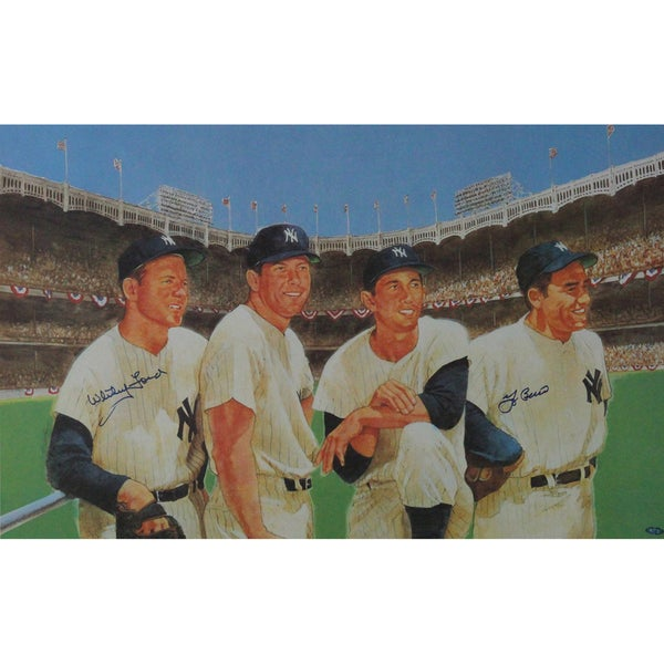 Yogi Berra & Whitey Ford Signed Litho 24x36