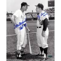 Yogi Berra & Stan Musial Signed 8x10 Photo w/ HOF Insc