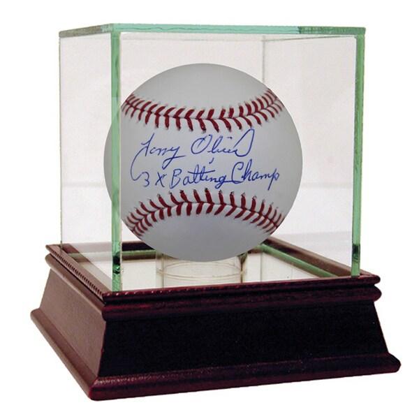 "Tony Oliva Autographed Baseball w/ ""3x Batting Champ"" Inscription"