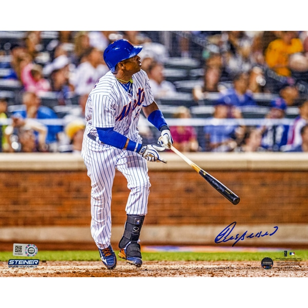 Yoenis Cespedes Signed Watching Ball Leave Park 8x10 Photo
