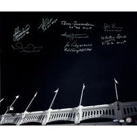 Yankees WS MVP's 9 Sig of Yankee Stadium Facades B&W 20x24 Photo (MLB Auth) (Sigs Ok, Photos Scratched- No Jeter)