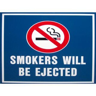 """Yankees 18x18 """" Smokers Will Be Ejected""""Replica Aluminum Sign"""