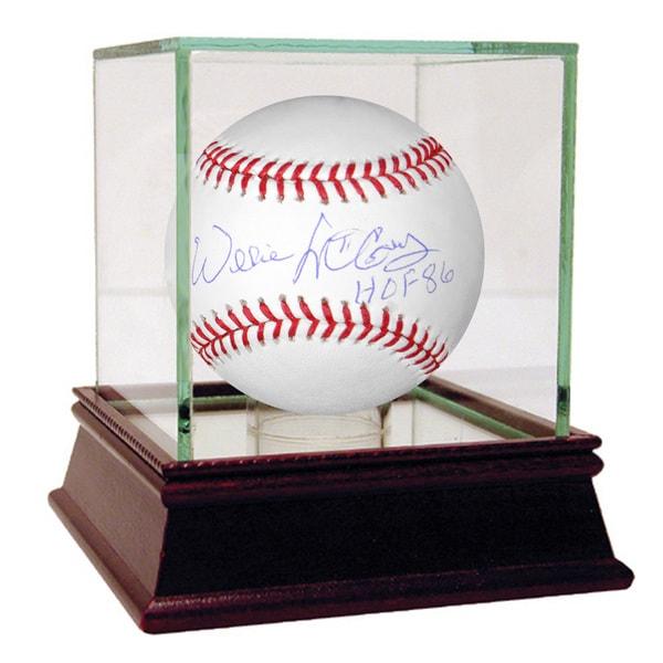 """Willie McCovey MLB Baseball w/ """"HOF"""" Insc."""