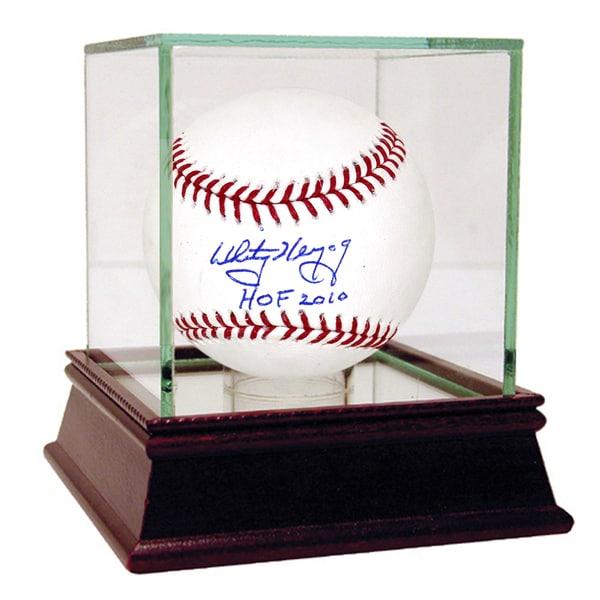 Whitey Herzog Signed MLB Baseball w/ HOF insc