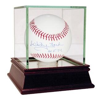 Whitey Ford HOF Inscription MLB Baseball