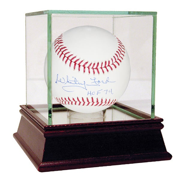 Whitey Ford HOF Inscription MLB Baseball