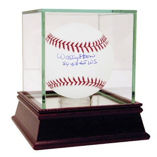 "Wally Moon Signed MLB Baseball w/ ""59-63-65 WS"" Insc"