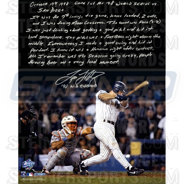 Tino Martinez Signed World Series Grand Slam 16x20 Story Photo