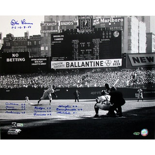 Don Larsen Perfect Game First Pitch 16x20 Photo w/ 11 Insc.