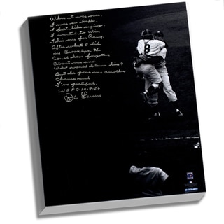 Don Larsen Facsimile World Series Perfect Game Story Stretched 16x20 Story Canvas