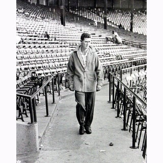 Ted Williams Walking Through Stadium Metallic 11x14 Photo