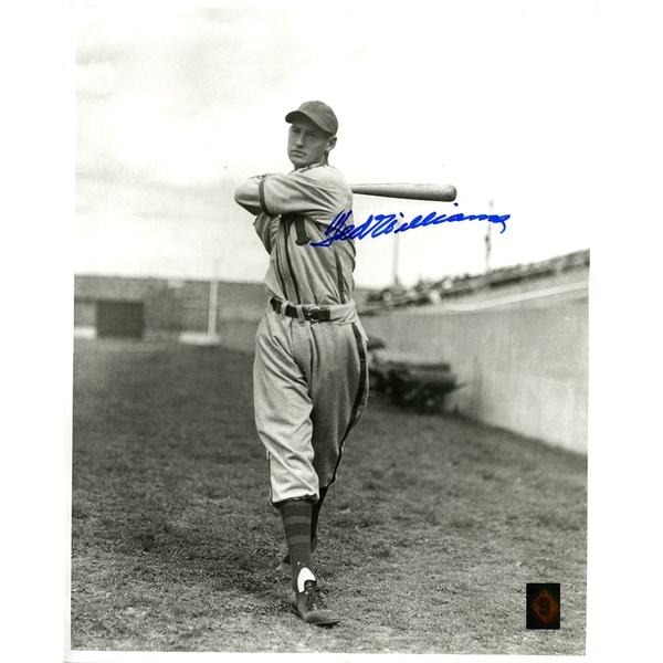 Ted Williams Signed Minneapolis Millers Black & White 16x20 Photo (Green Diamond Auth)