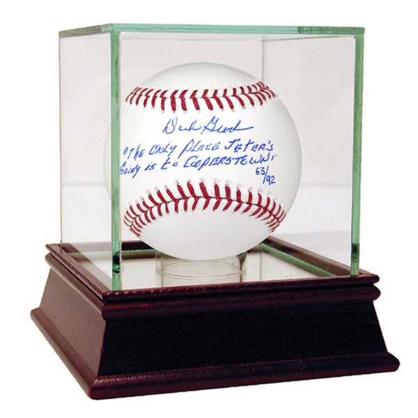 Dick Groch Signed Baseball w/Jeter's Cooperstown Quote Insc (LE/92)