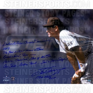 Steve Garvey San Diego Padres Stands Ready 16x20 Story Photo w/ Insc. ( Signed in Blue)