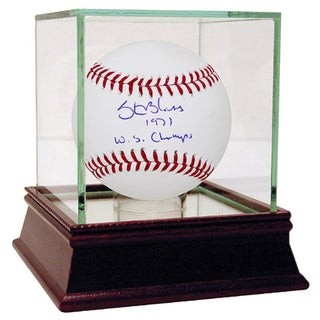 "Steve Blass Signed MLB Baseball w/ ""1971 WS Champs"" insc"