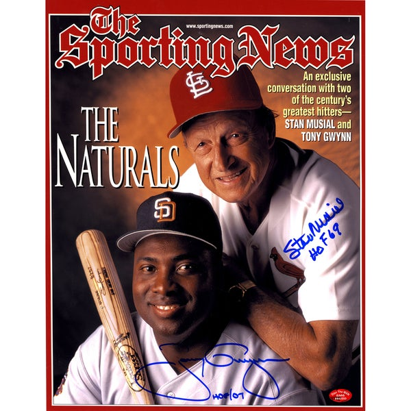 Stan Musial/Tony Gwynn Dual Signed and Inscribed 11x14 Photo ( Stan Auth)