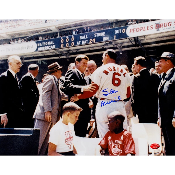 Stan Musial Signed With JFK 11x14 Photo (Stan the Man Auth)