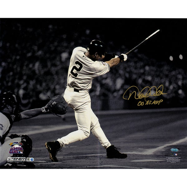 """Derek Jeter Signed In Gold 2000 All Star Game 16x20 Metallic Photo w/ """"00 AS MVP"""" Insc. (LE of 22)"""