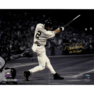"Derek Jeter Signed In Gold 2000 All Star Game 16x20 Metallic Photo w/ ""00 AS MVP"" Insc. (LE of 22)"