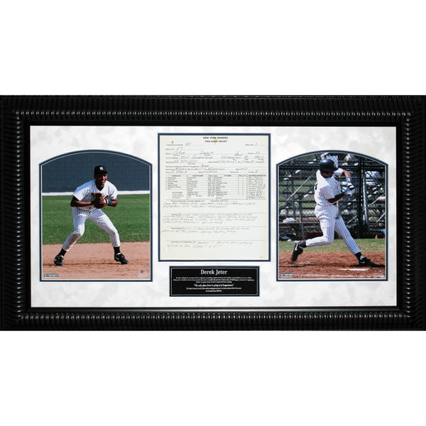Derek Jeter Scouting Report 14x26 Framed Collage – 7310
