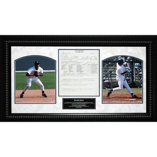 Derek Jeter Scouting Report 14x26 Framed Collage  7310