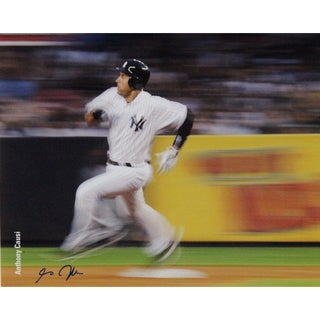 Derek Jeter Rounding Second 16x20 Photo Uns (Signed By Photographer Anthony Causi)